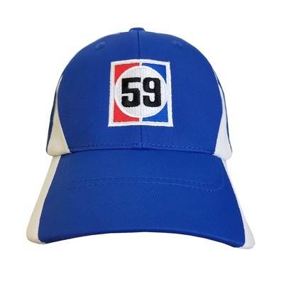 Brumos 59 Hat-Royal/White