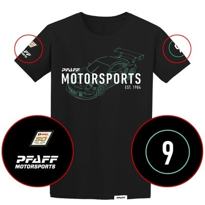 Pfaff Racing/IMSA 50th Anniversary Tee - Black