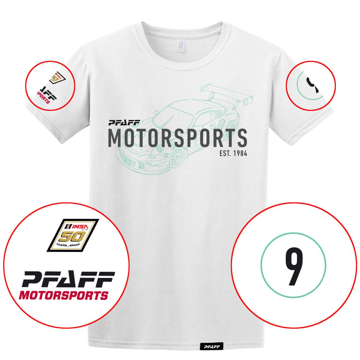 Pfaff Racing /IMSA 50th Anniversary Performance Tee - White
