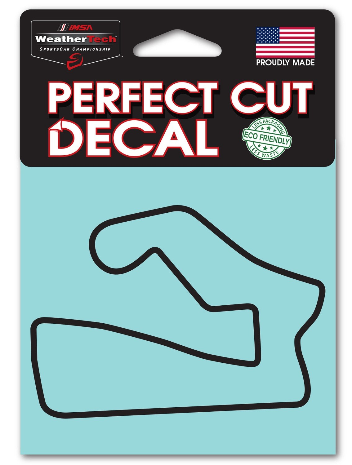 Road America Track Outline Black