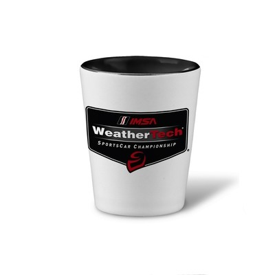 WeatherTech Shot Glass Black/White 2 oz