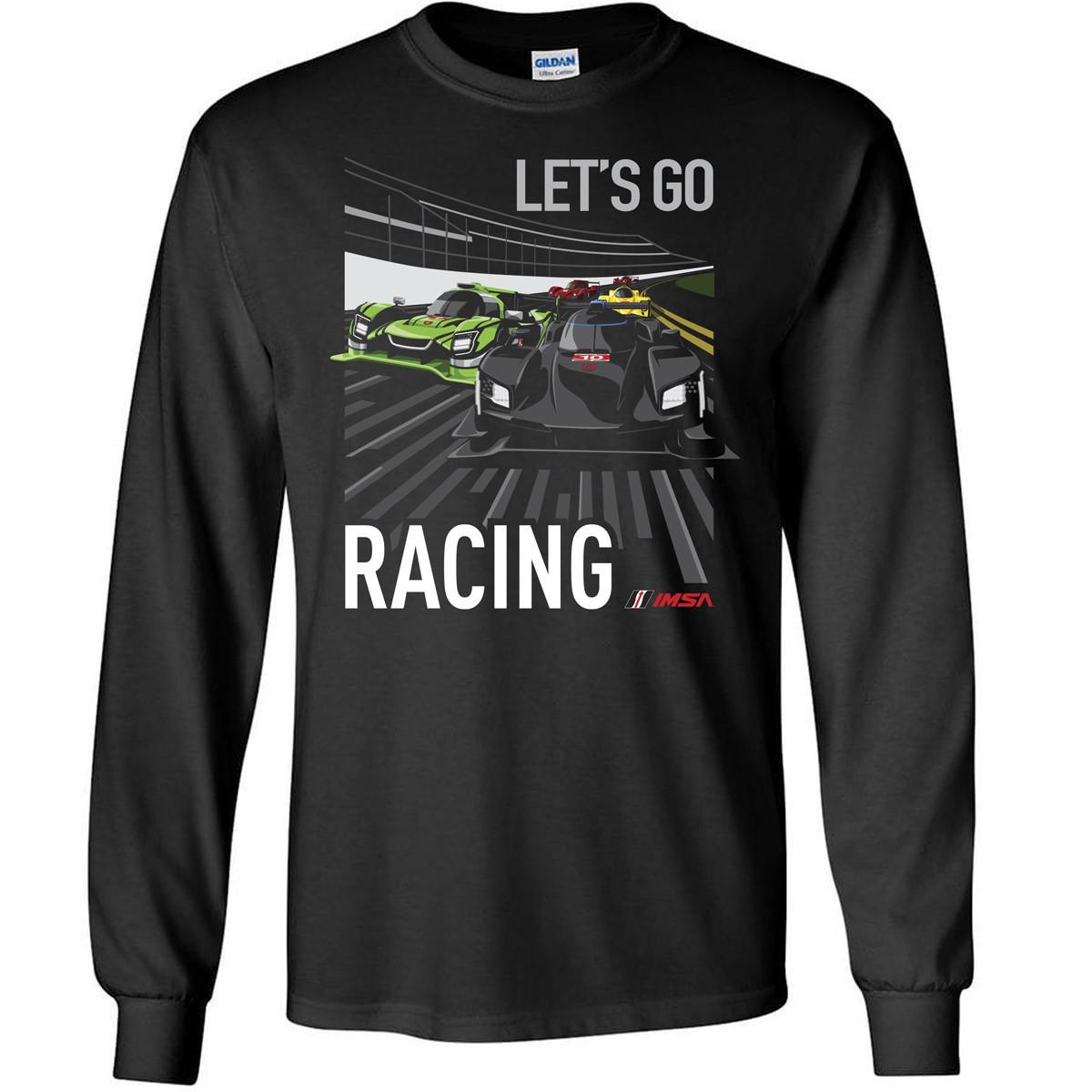 Lets Go Racing Long Sleeve Tee - Black