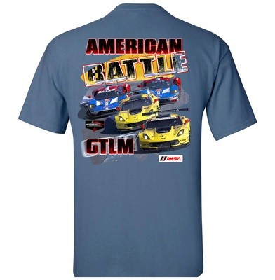 American Battle - Chevy vs. Ford Tee -Heather Indigo