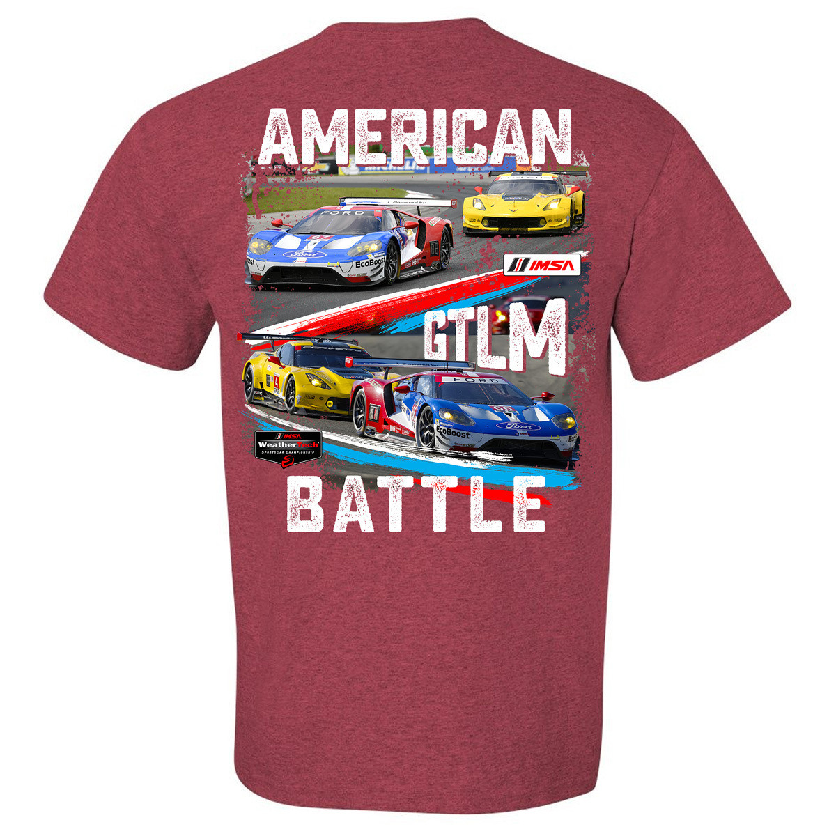 American Battle - Ford vs. Chevy Tee - Heather Cardinal