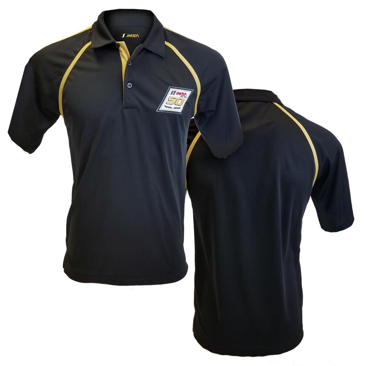IMSA 50th Eversole Polo -Black/Gold