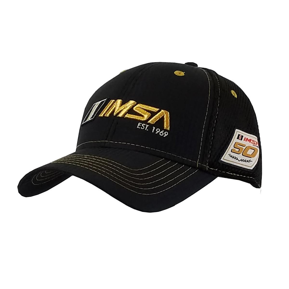 IMSA Gold Air Mesh Hat Blk