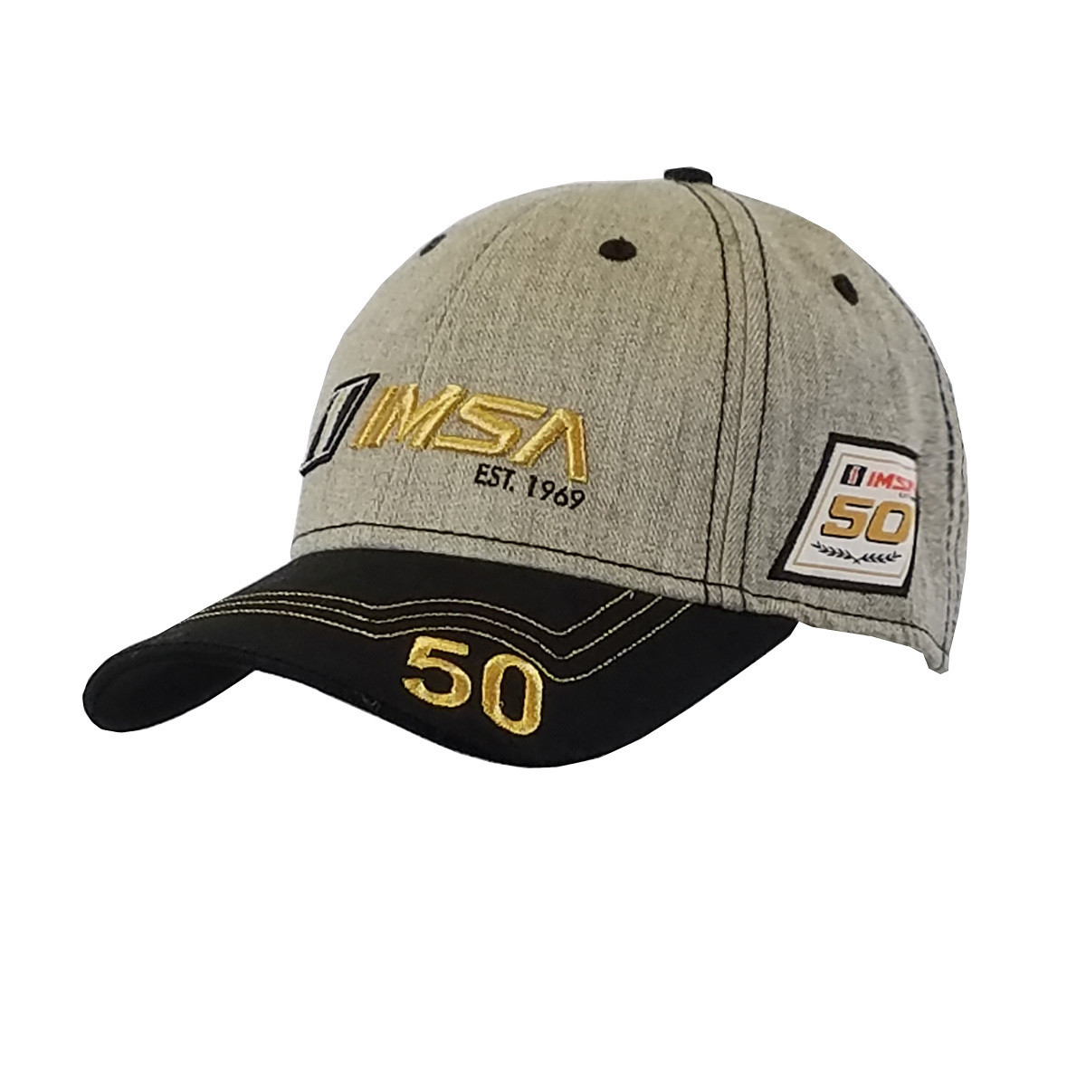 IMSA Gold Grey/Blk Hat