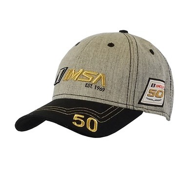 IMSA Gold Grey/Blk Hat