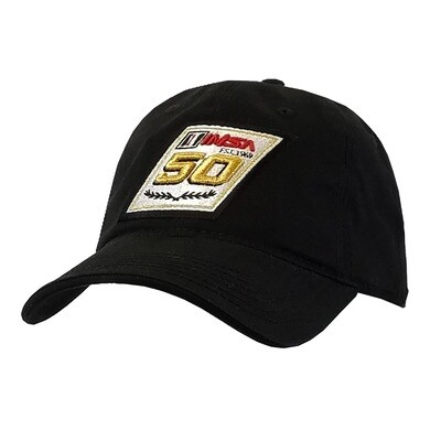 50th Black Relaxed Hat