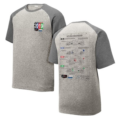 IMSA 2019 WeatherTech Technical Performance Tee - Vintage Heather/ Graphite Heather
