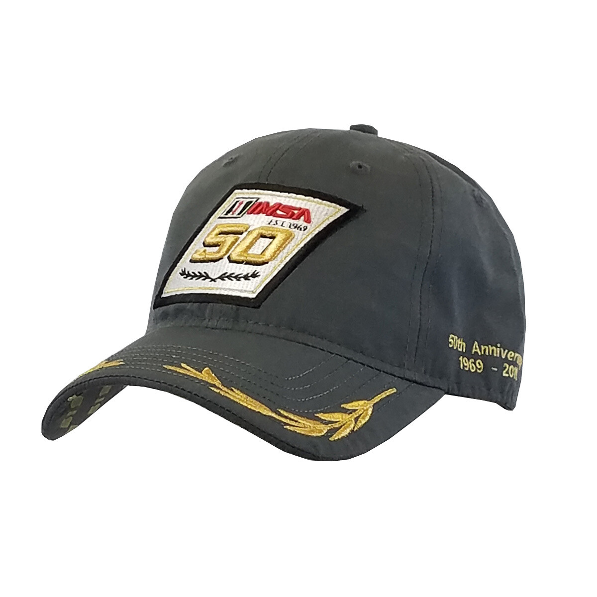 50th Laurels Hat Charcoal
