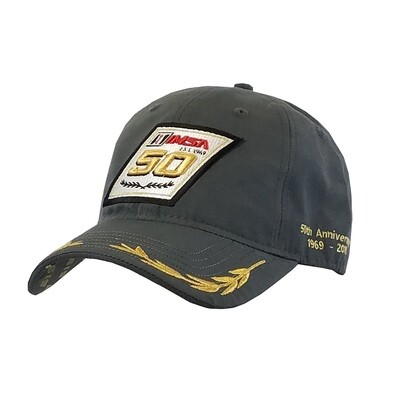 IMSA 50th Anniversary  Laurels Hat Charcoal