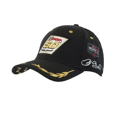 50th Laurels/Track Outlines Hat Black