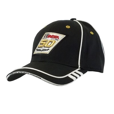 IMSA 50th Blk Hat/Wh Piping