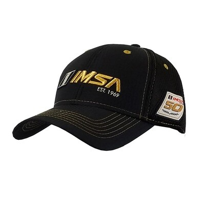 IMSA 1969 Golden Air Mesh Hat - Black