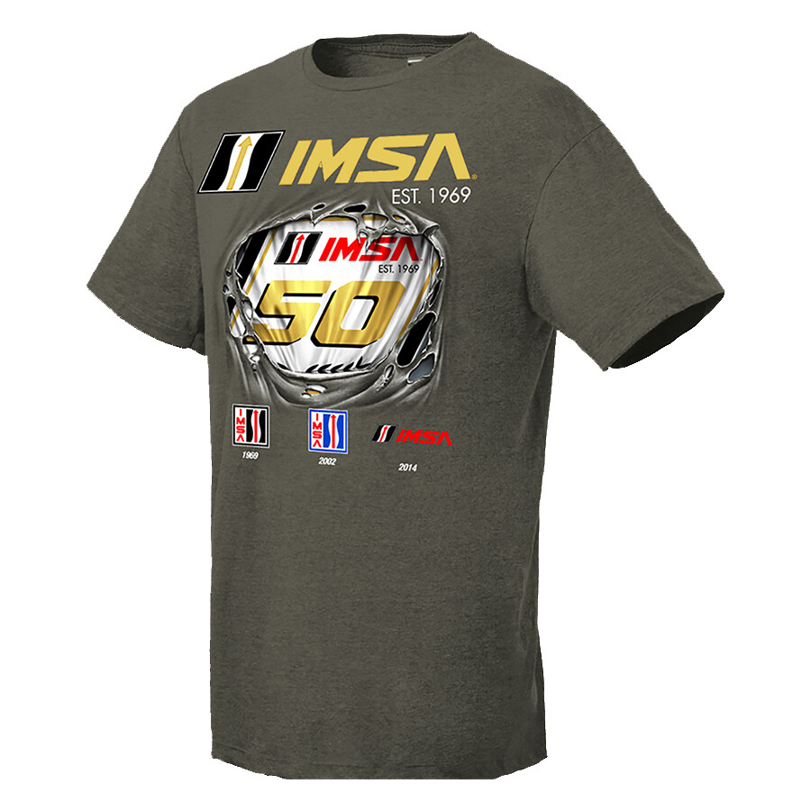 IMSA 50th Anniversary Breakthrough Tee - Olive Heather