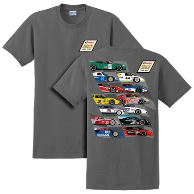 IMSA 50th Anniversary Car Montage Tee - Charcoal