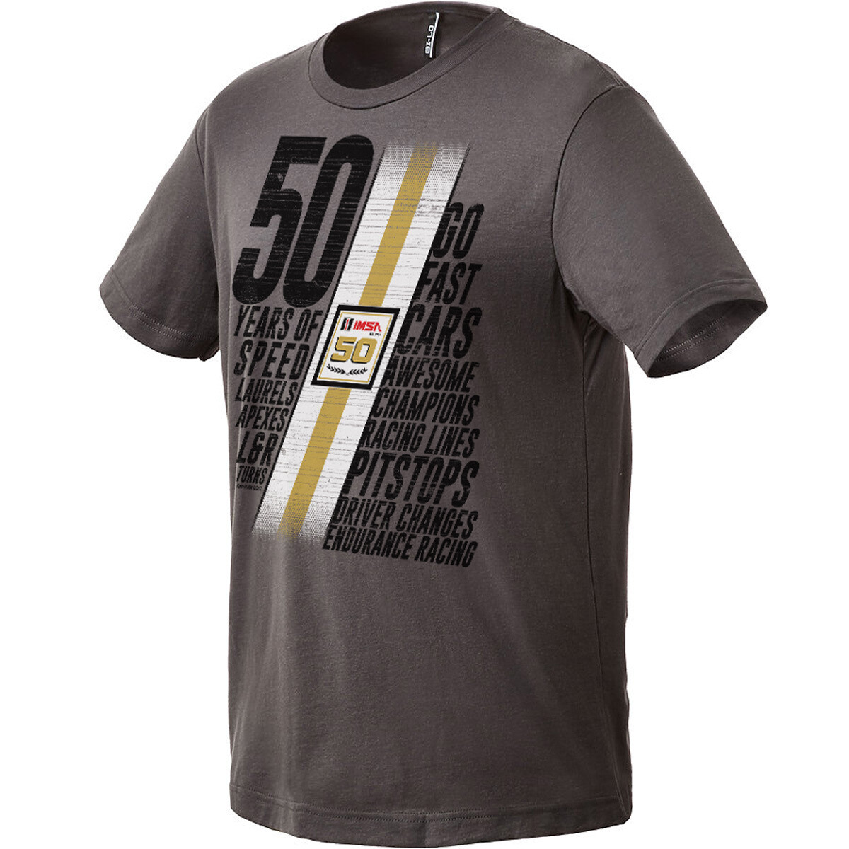 IMSA 50th Anniversary Words Tee - Warm Grey