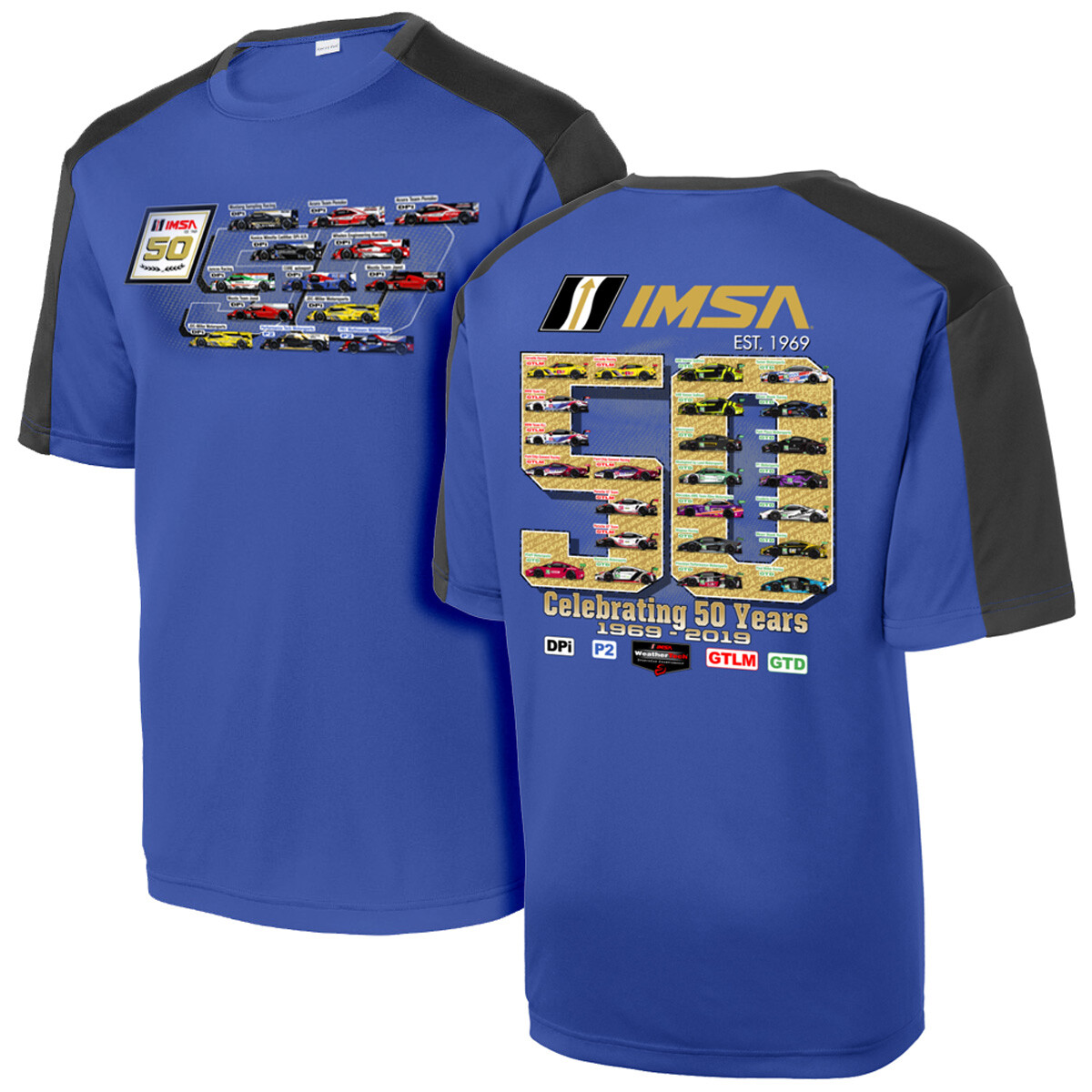 IMSA 50th Anniversary Car Spotter Tee - Royal/Black