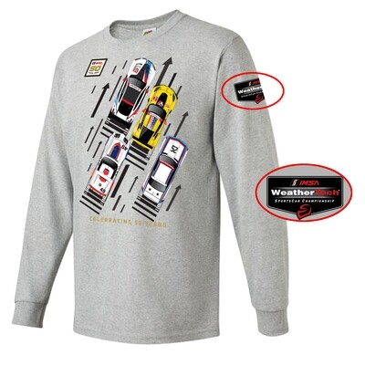 IMSA 50th Anniversary Car Aerial Long Sleeve Tee - Athletic Heather