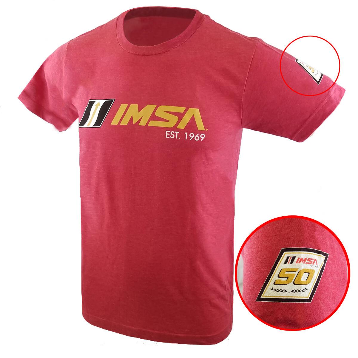 IMSA Est. 1969 Full Front Logo Tee - Heather Red