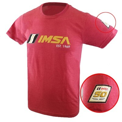 IMSA Est. 1969 Full Front Logo Tee - Heather Red