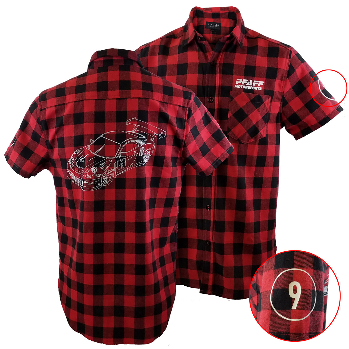 Pfaff Racing Short Sleeve Flannel Shirt