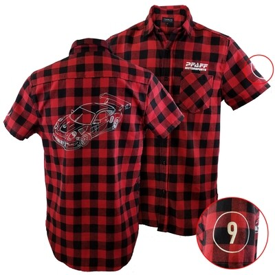Pfaff Racing Short Sleeve Flannel Shirt