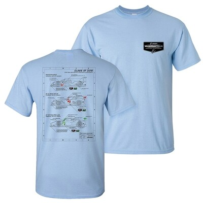 Technical Car Tee - Light Blue