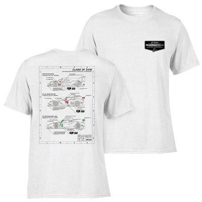 Technical  Car Tee- White