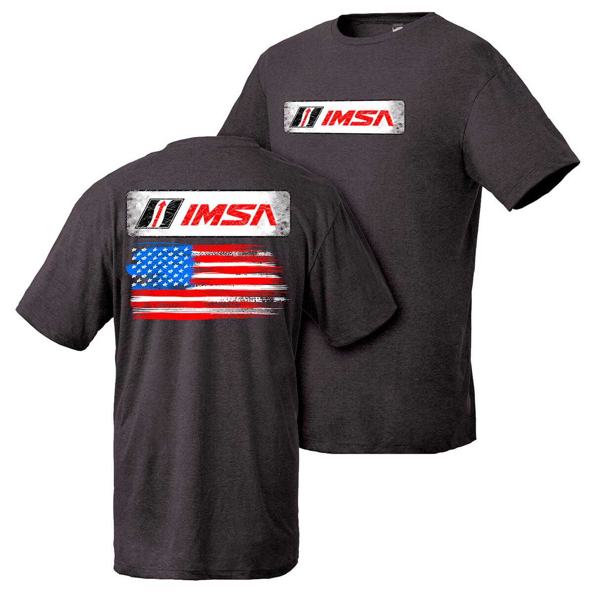 IMSA Flag Design Tee - Black Heather