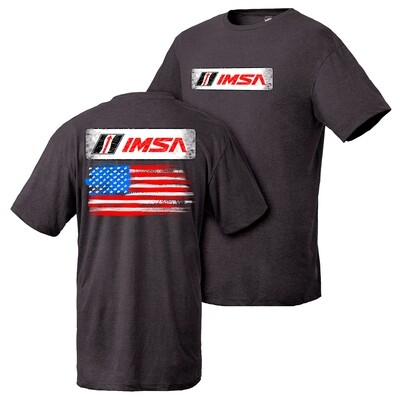 IMSA Flag Design Tee - Black Heather