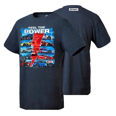 Feel The Power Tee - Navy