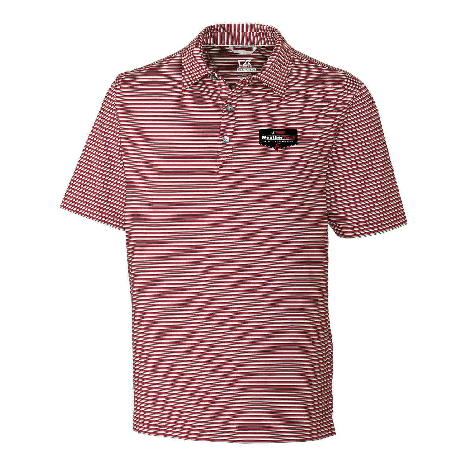 WeatherTech Division Stripe Polo - Cardinal Red Polished