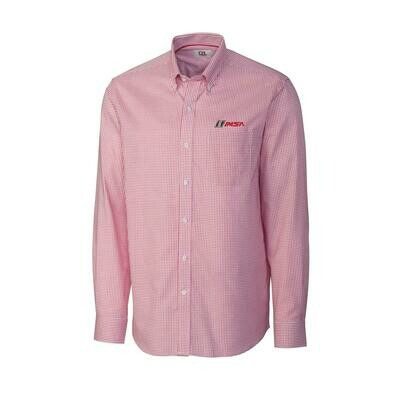 IMSA Long Sleeve Tattersall Button-down Shirt - Red