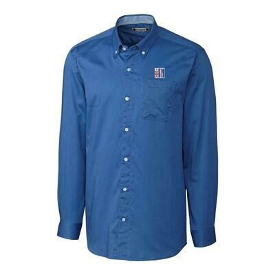IMSA Retro Logo Long Sleeve Button-down Shirt - French Blue
