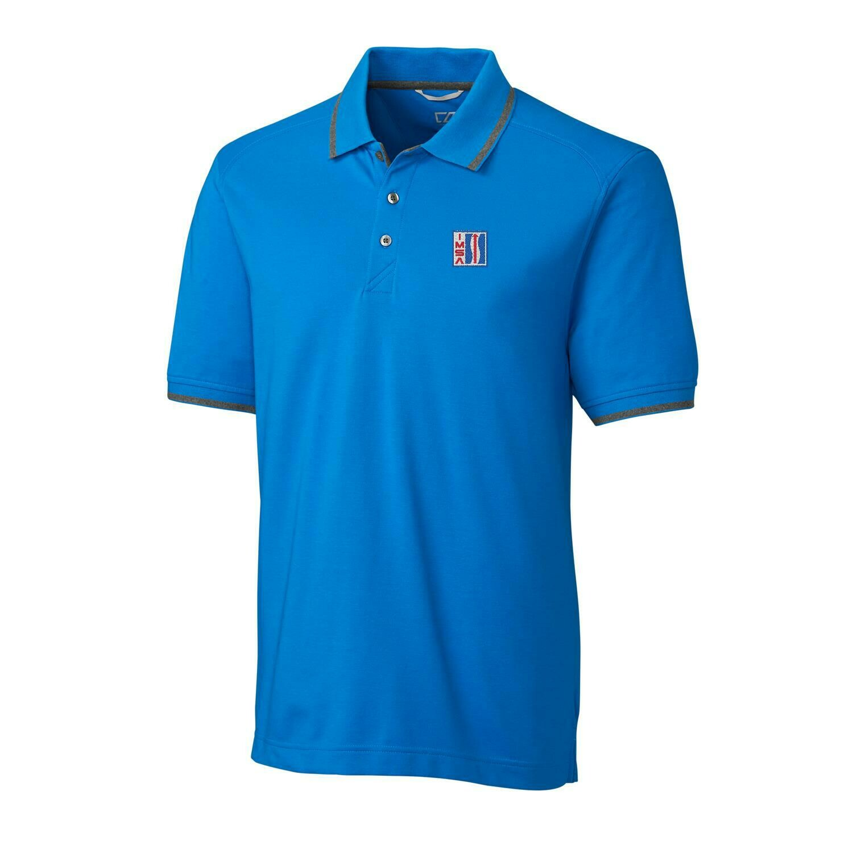 IMSA Retro Logo Advantage Tipped Polo - Blue