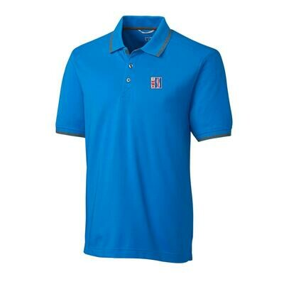 IMSA Retro Logo Advantage Tipped Polo - Blue