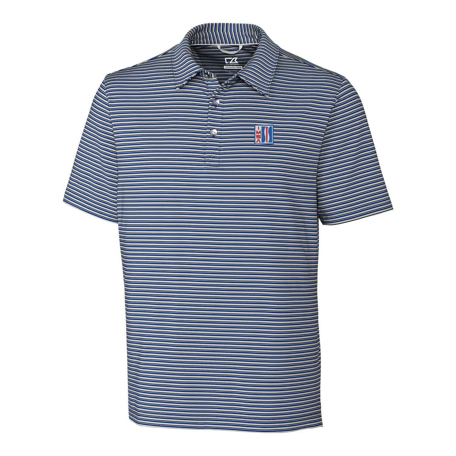 IMSA Retro Division Stripe Polo - Blue Polished