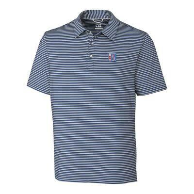 IMSA Retro Division Stripe Polo - Blue