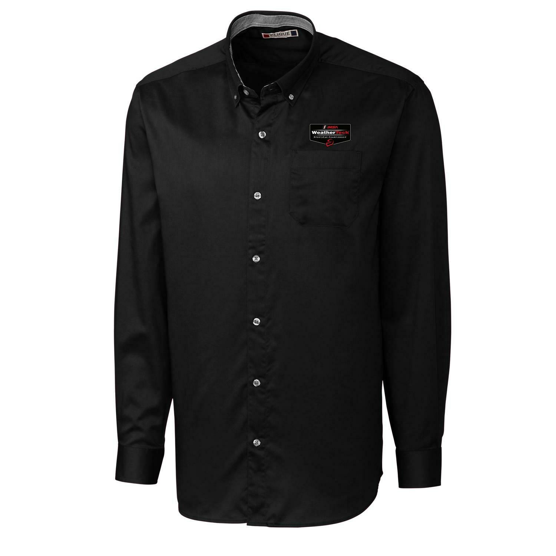 WeatherTech Long Sleeve Button-down Shirt - Black