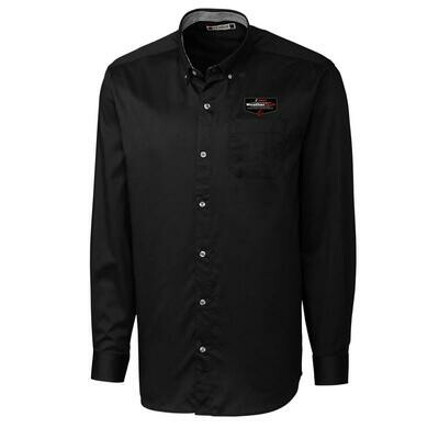 WeatherTech Long Sleeve Button-down Shirt - Black