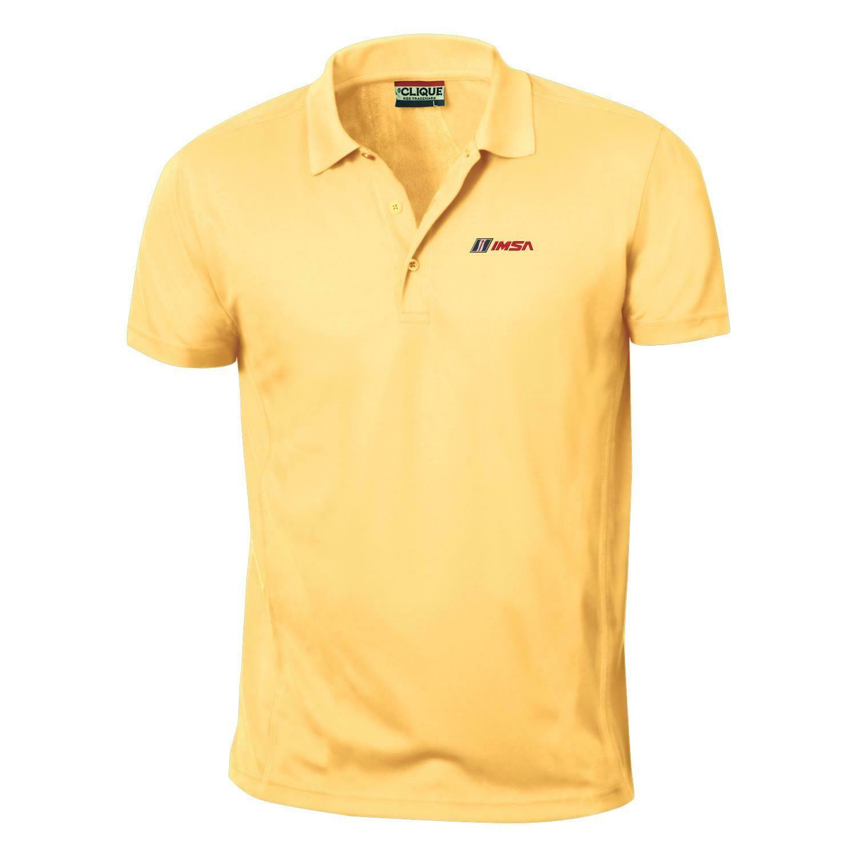 IMSA Ice Pique Polo - Maze Yellow