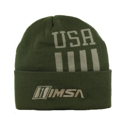 IMSA/USA Knit Cap Olive