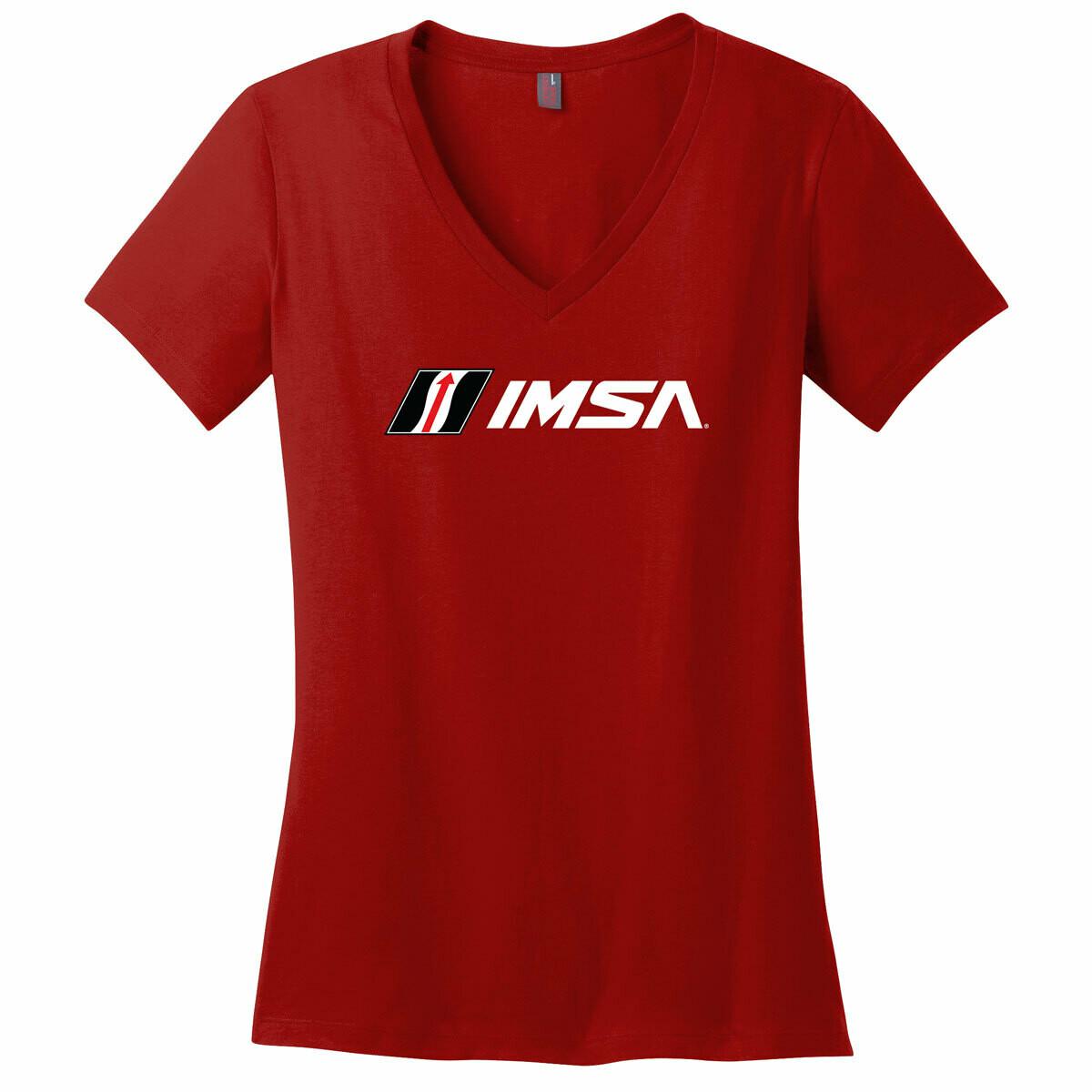 IMSA Logo Ladies V-Neck -Red