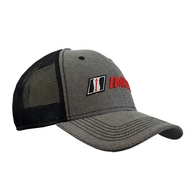 IMSA Chambray Trucker Mesh Snap-back Hat - Carbon/Black