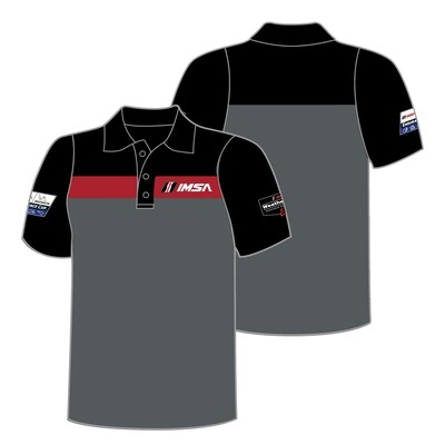 IMSA Colorblock Polo-Blk/Red/Gry