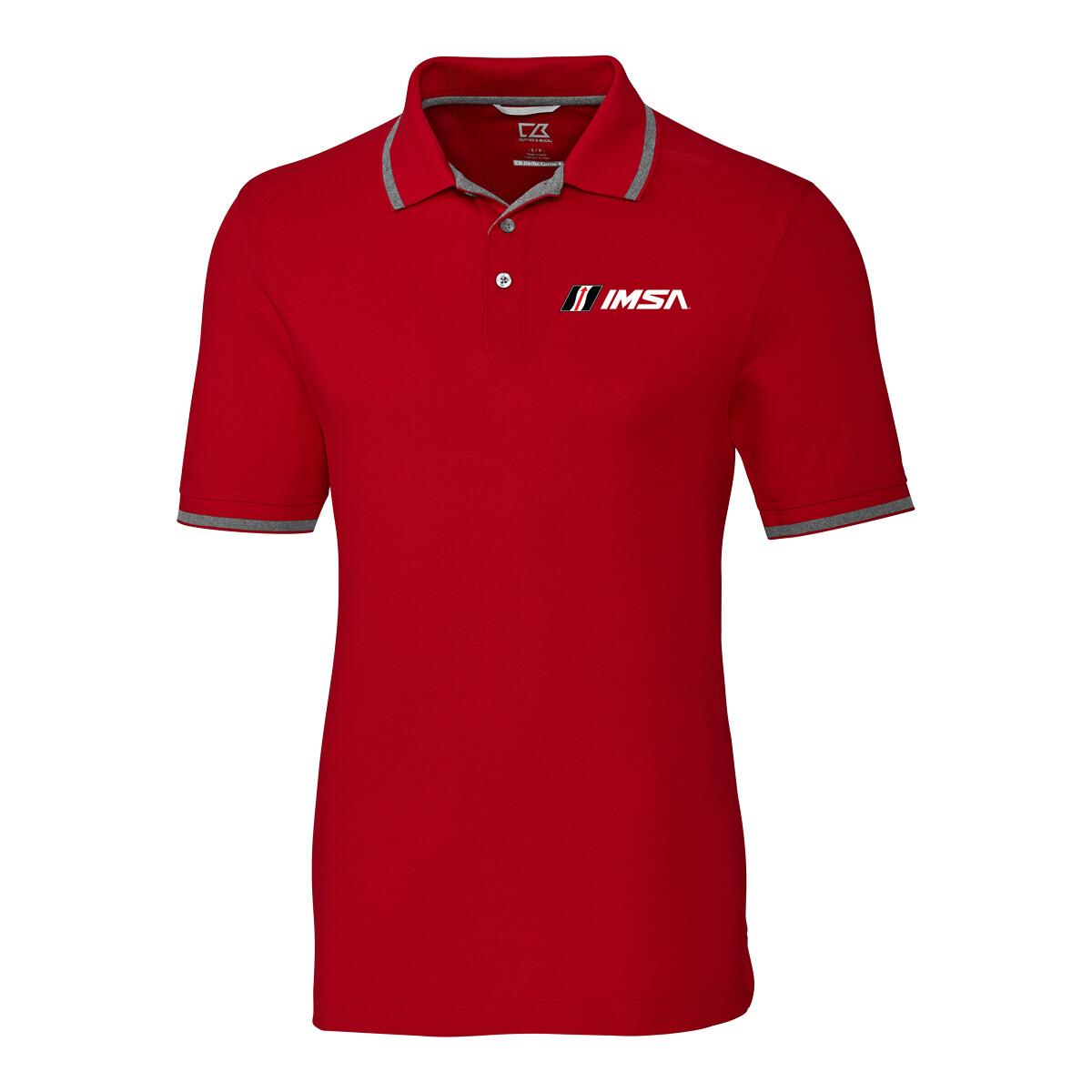 IMSA Advantage Tipped Cutter & Buck Polo- Cardinal Red/Silver