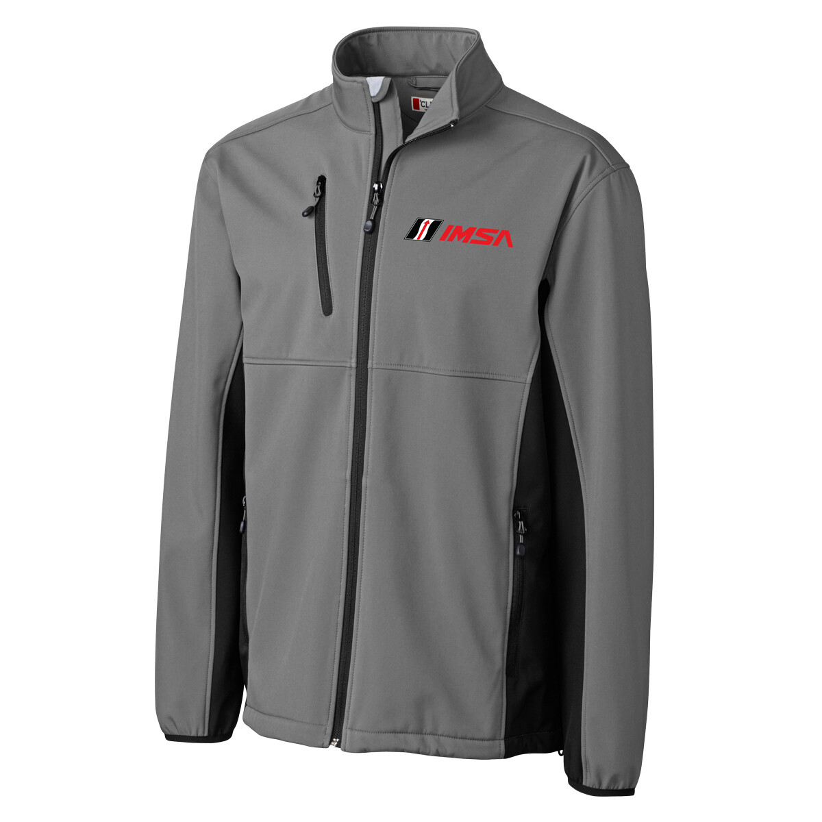 IMSA Narvik Softshell Cutter & Buck Jacket - Grey/Black