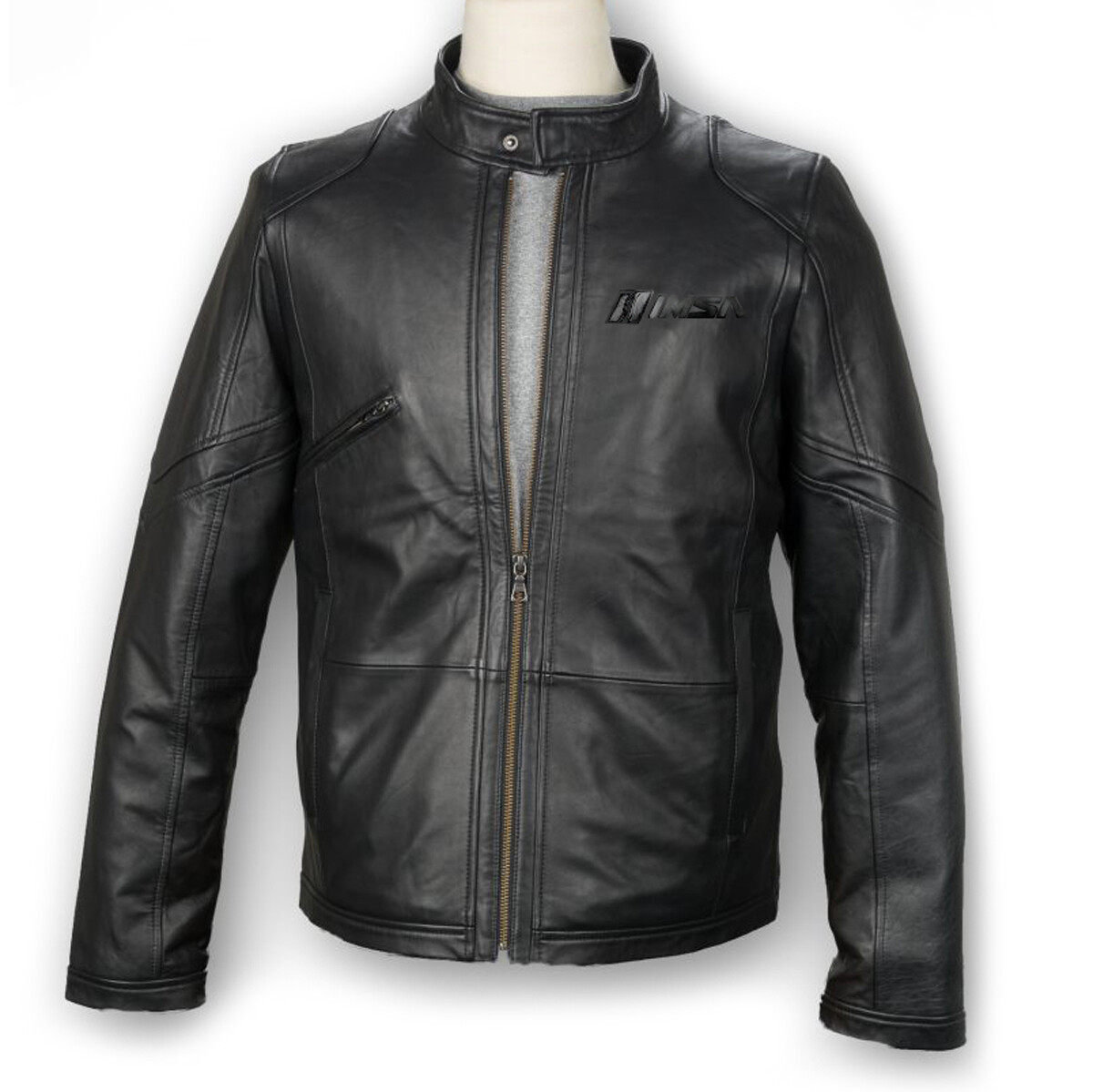 IMSA Lambskin Leather Driving Jacket- Black